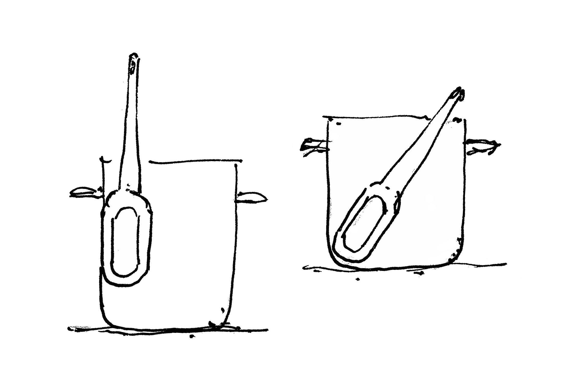 wooden kitchen tools sketch