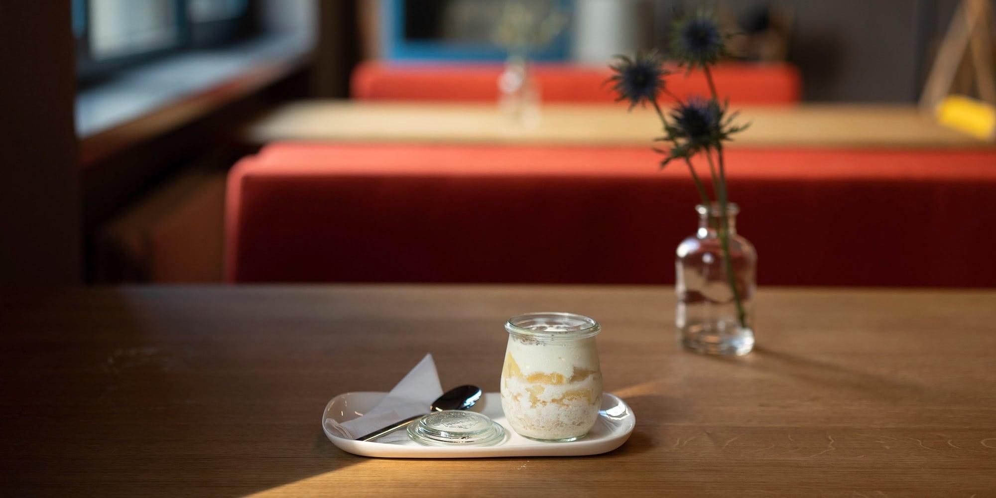 """Handmade tableware for restaurant """"Im Kuenstlerhaus"""""""